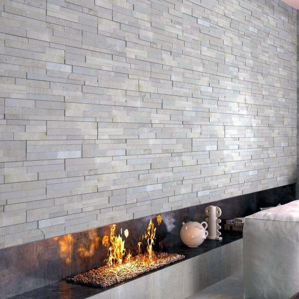 Modern Grey Cool Fireplace Tile
