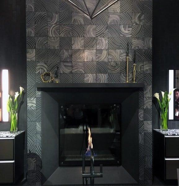 Modern Grey Fireplace Tile Ideas