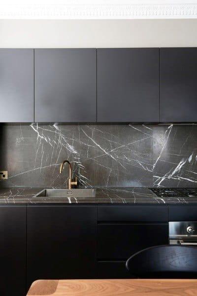 Modern Grey Marble Stone Kitchen Backsplash Designs