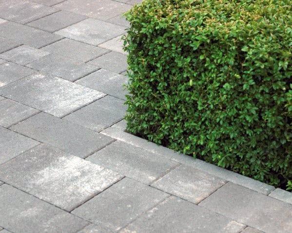 Modern Grey Stone Driveway Edging Ideas
