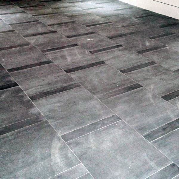 Modern Grey Stone Tile Garage Flooring Ideas