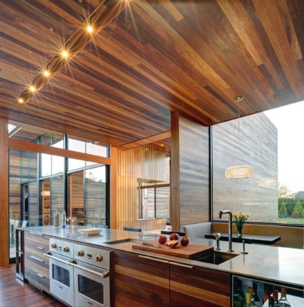 Modern Hardwood Kitchen Ceiling Ideas