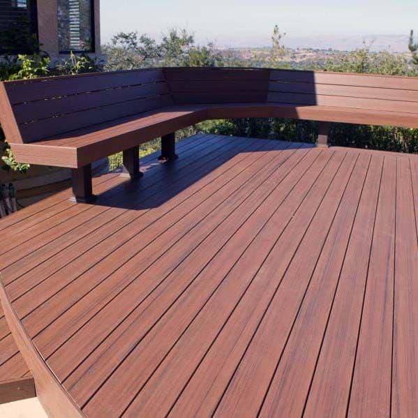Modern Home Backyard Deck Bench
