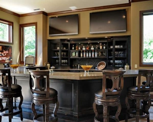 Top 40 Best Home Bar Designs Ideas For Men on mid century modern homes portland