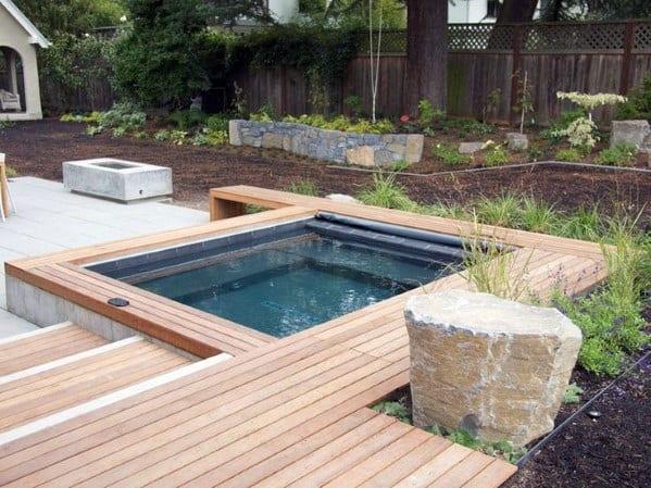 Modern Home Exterior Designs Hot Tub Deck