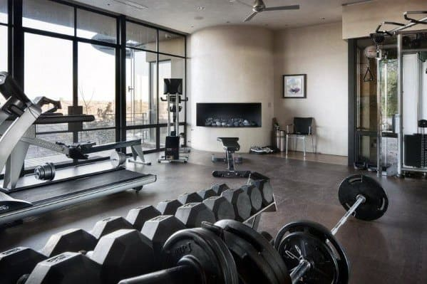 Modern Home Gym Flooring Design Ideas