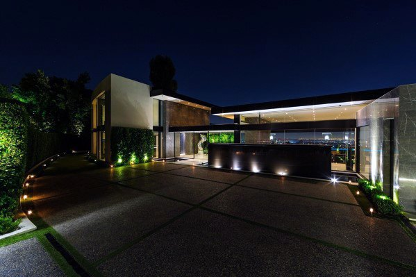 Modern Home Ideas Driveway Lighting