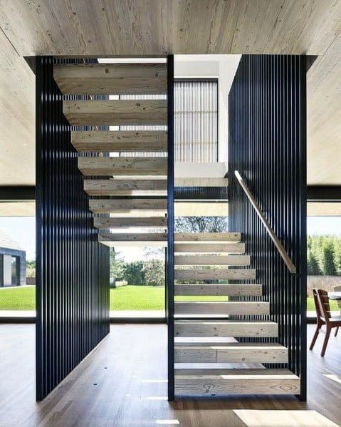Modern Home Interior Wood Stairs