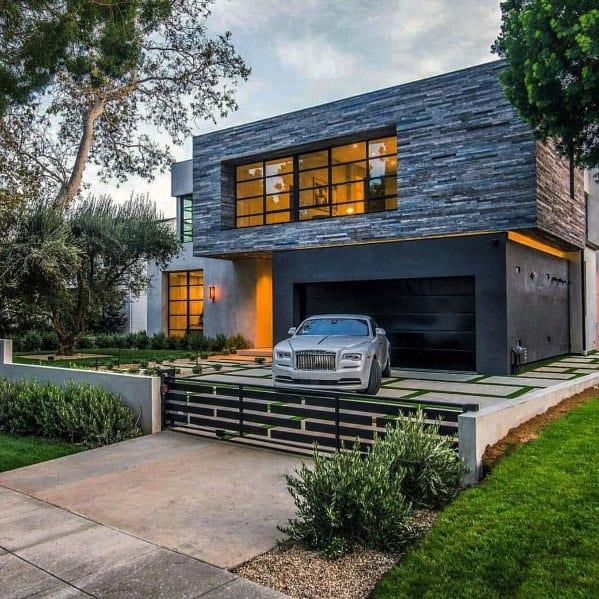 Modern Home Landscape Designs For Driveway