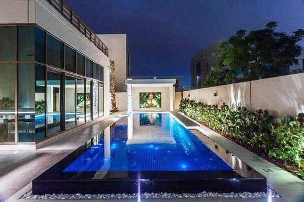 Modern Home Pool Lighting Ideas