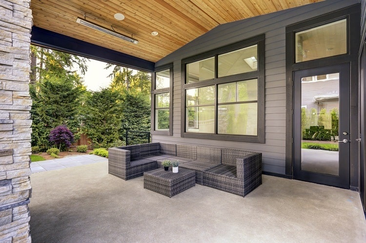 Modern Home With Exterior Window Trim