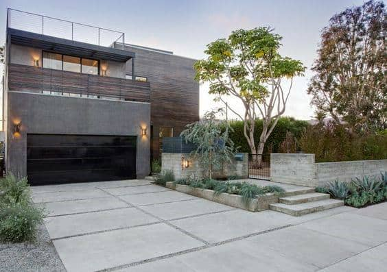 Modern Homes Concrete Driveway Ideas Inspiration