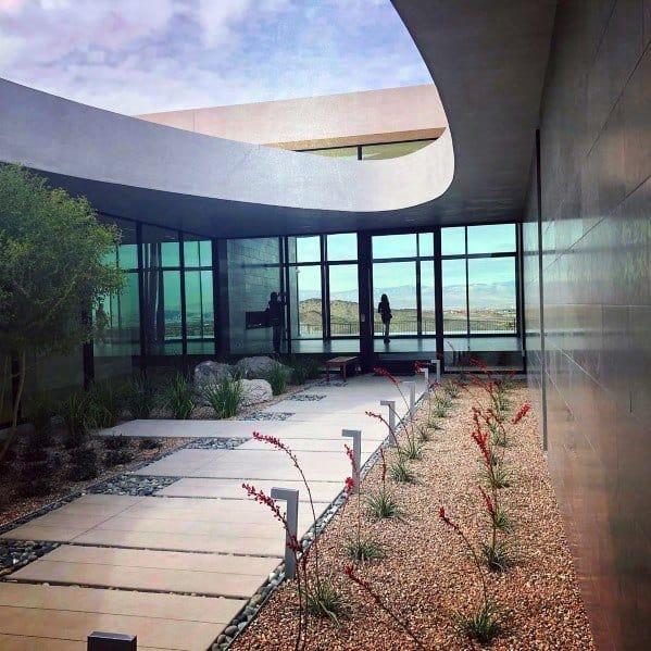 Modern Homes Desert Landscaping Ideas Inspiration