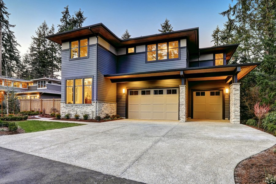 Modern Glass And Steel Garage Doors