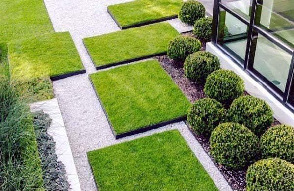 Modern Ideas For Gravel Landscape With Grass Patches