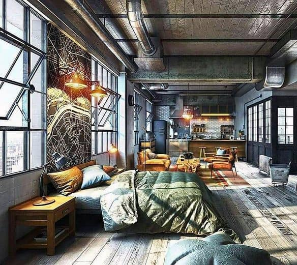innovative industrial interior design bedroom ideas | Top 50 Best Industrial Interior Design Ideas - Raw Decor ...