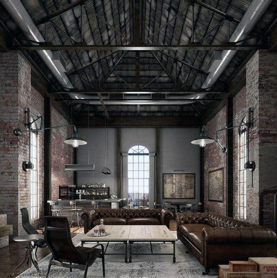 Modern Industrial Style Design Ideas & Top 50 Best Industrial Interior Design Ideas - Raw Decor Inspiration