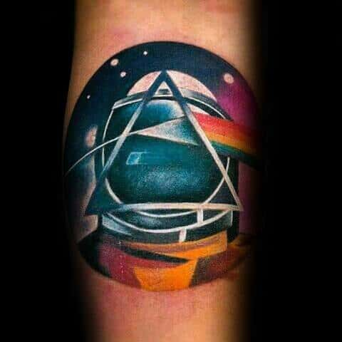 Modern Inner Forearm Dark Side Of The Moon Tattoo Ideas On Guys
