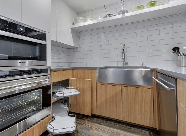 Modern Interior Corner Kitchen Cabinet