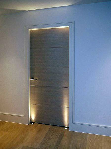 Modern Interior Ideas For Door Trims With Led Lighting Accents