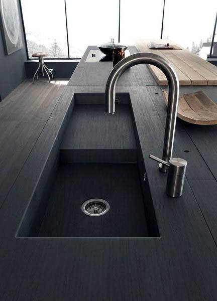 Modern Kitchen Black Sink Design Ideas