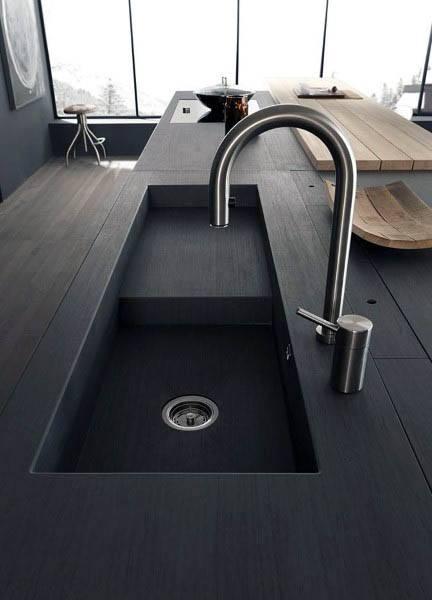 Modern Kitchen Black Sink Design Ideas