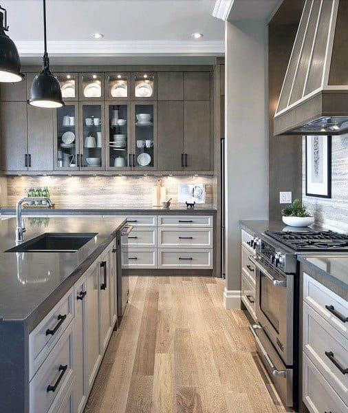 Ideas For Decorating Top Of Kitchen Cupboards: Top 70 Best Kitchen Cabinet Ideas