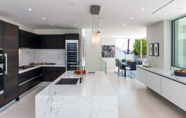 Modern Kitchens Marble Island Design