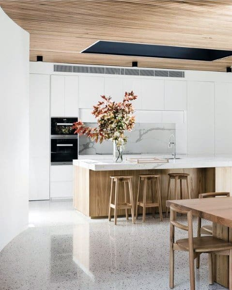 Modern Kitchens Wood Ceiling Ideas