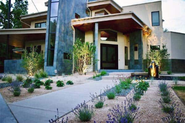 Modern Landscaping Front Of House