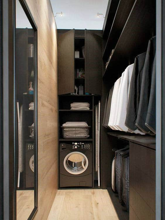 Modern Laundry Room Closet Space For Men