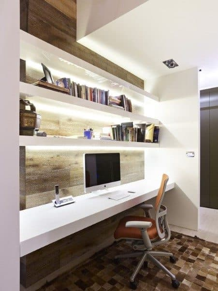 Modern Led Built In Desk Ideas
