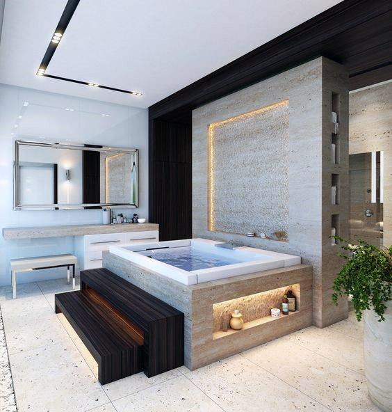 Modern Lighting Cool Bathrooms Ideas