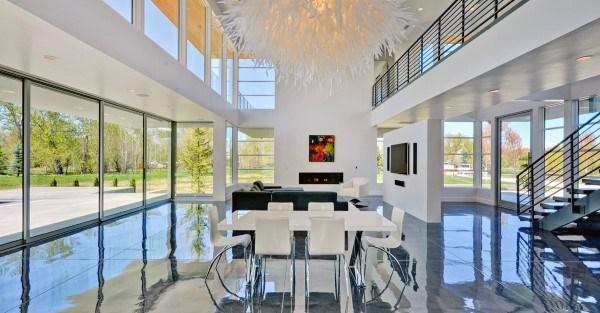 Modern Living Room Concrete Floor Ideas