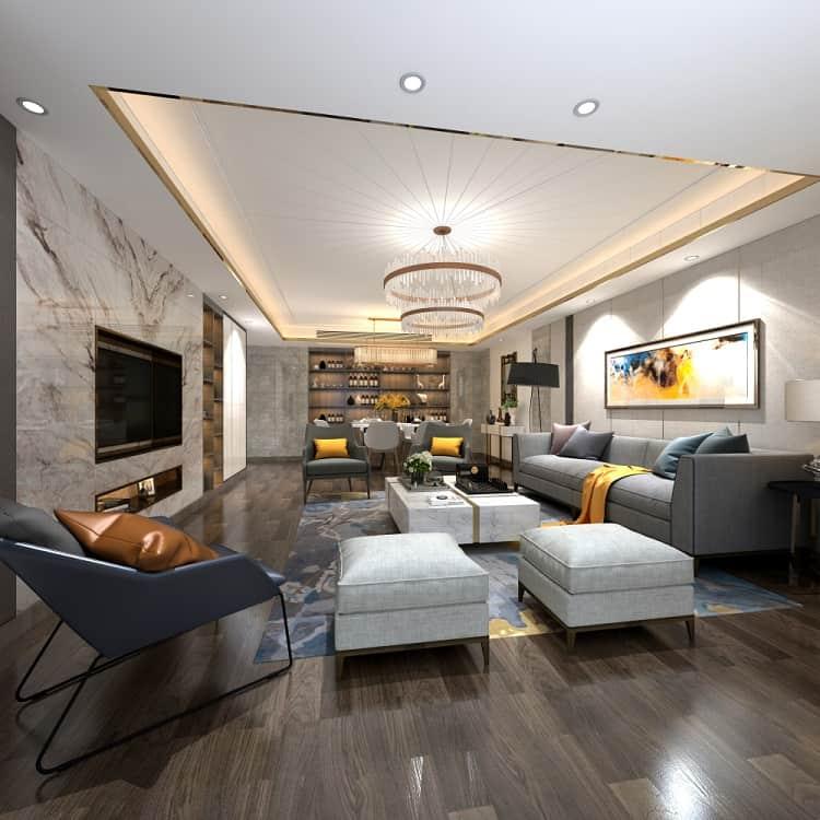 Modern Living Room Cove Lighting Ceiling Ideas
