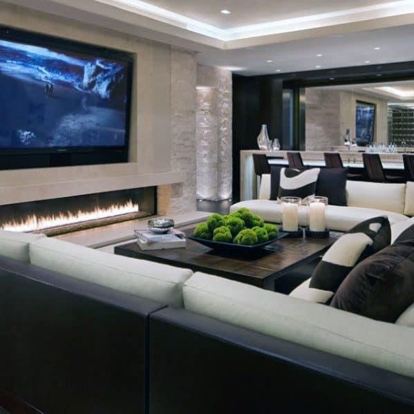 Modern Living Room Design Ideas For Crown Molding Lighting