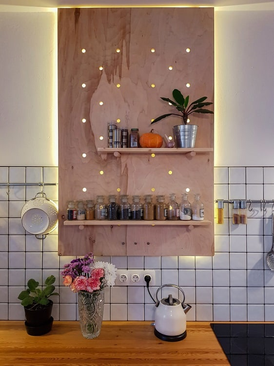 Modern Loft Interior Kitchen Pegboard Ideas