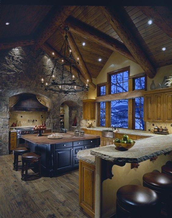 Modern Log Cabin Interior Design