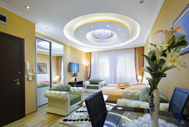 Modern Luxury Apartment Cove Lighting Ceiling Ideas
