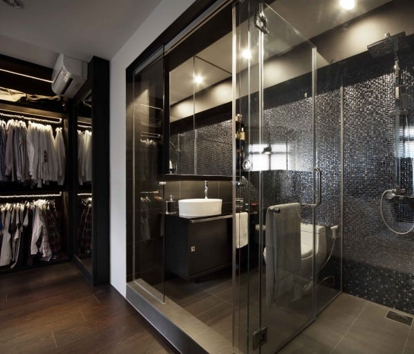 Black Luxury Modern Bathroom top 60 best modern bathroom design ideas for men - next luxury