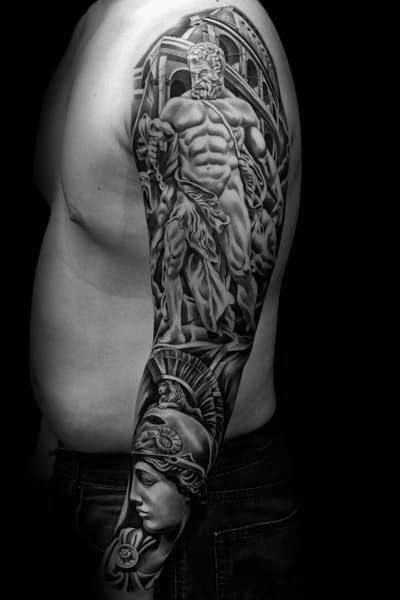 Modern Male Athena Tattoos