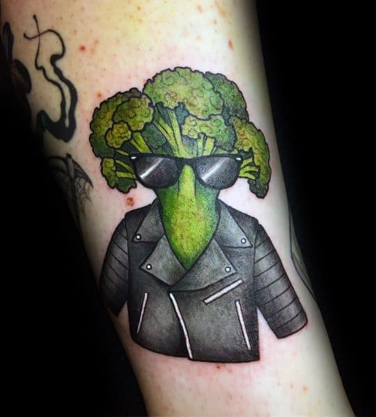 Modern Male Broccoli Tattoos