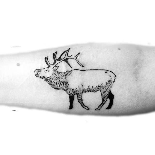 Modern Male Elk Tattoos
