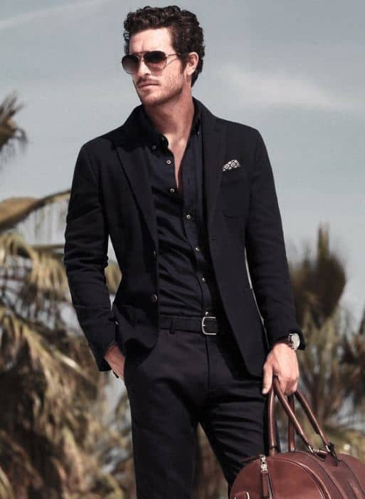 Modern Male Fashion Stles All Black Outfits Suits