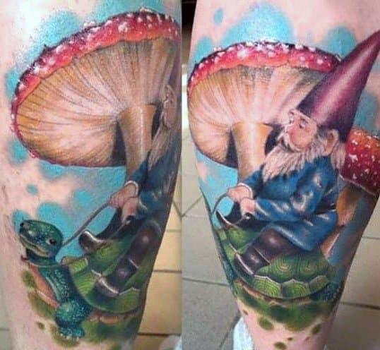 Modern Male Gnome Tattoos