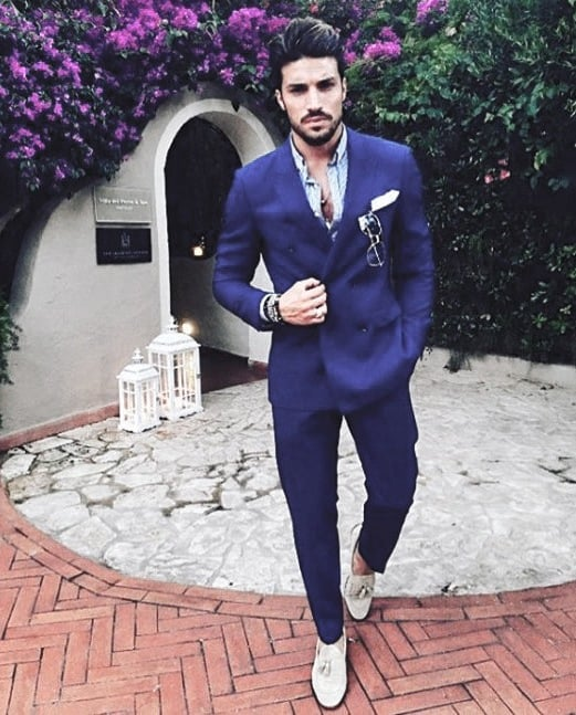 Modern Male How To Wear A Suit Without A Tie Outfits Styles