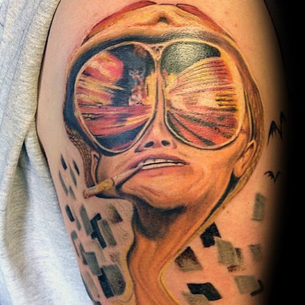 Images Pictures Tattoos Hunter: 70 Hunter S Thompson Tattoo Designs For Men