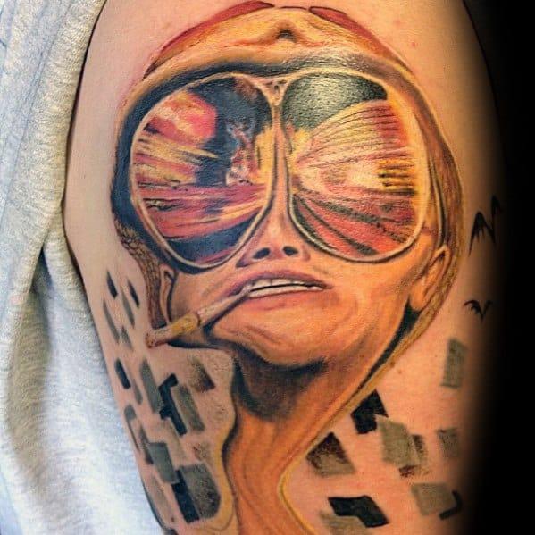 Modern Male Hunter S Thompson Tattoos