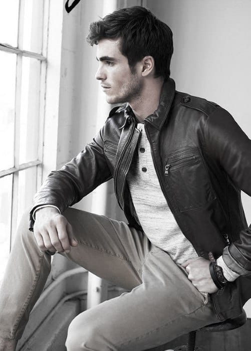 Modern Male Leather Jacket How To Wear A Leather Jacket Outfits Styles