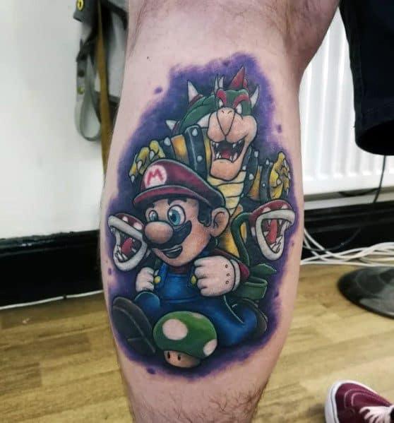 Modern Male Mario Tattoos